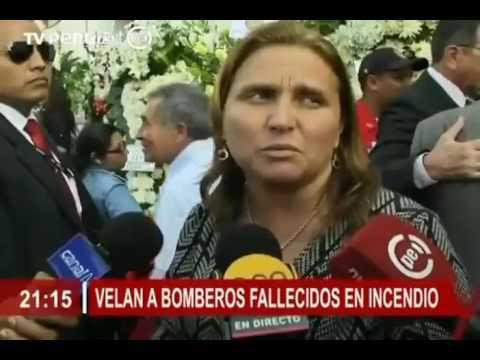 VELAN A BOMBEROS CAIDOS EN EL AGUSTINO - PERU