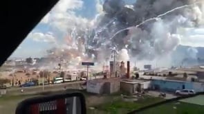 EXPLOSIÓN DE DEPOSITO DE PIROTECNIA EN MERCADO DE TULTEPEC, MÉXICO