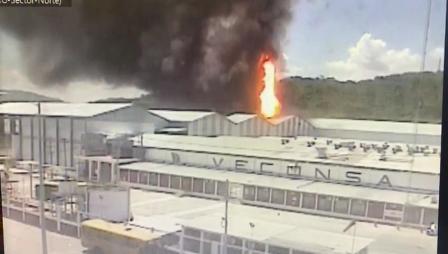 Explosión en bodega de alimentos en Guayaquil