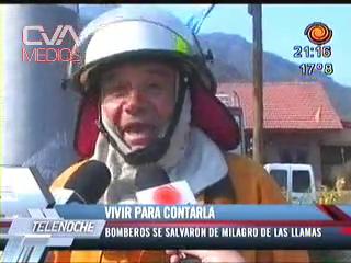 2009 - UNA INCREÍBLE ANÉCDOTA DEL JEFE DE BOMBEROS DE VILLA CIUDAD AMÉRICA: COMO SALVO SU VIDA DE MILAGRO EN UN INCENDIO FORESTAL - CÓRDOBA EN ARGENTINA
