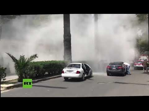 Momentos de pánico en Ciudad de México durante el devastador terremoto de 7,1