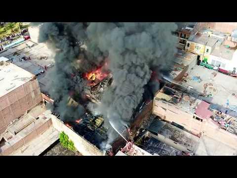 Incendio en AREQUIPA, San Camilo HD - Drone