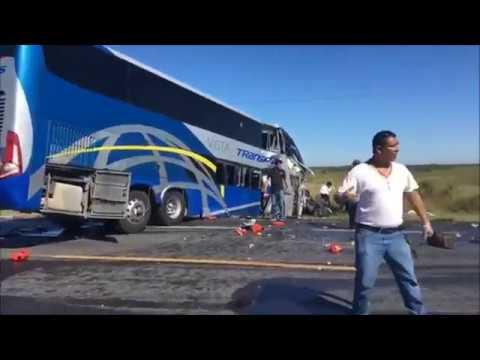 CHOQUE E INCENDIO DE AUTOBÚS DE PASAJEROS - TAMAULIPAS, MÉXICO