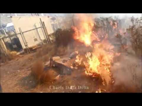 """VÍDEO DE BOMBEROS DE LAS HERAS: """"INCENDIO DE CERRO ARCO"""", INCENDIOS FORESTALES EN MENDOZA - ARGENTINA"""