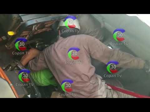 RESCATE VEHICULAR PESADO EN CAMIÓN QUE DEJA CHÓFER ATRAPADO SOBRE CABEZAL DE COPAN  - DEPARTAMENTO DE COPAN EN HONDURAS