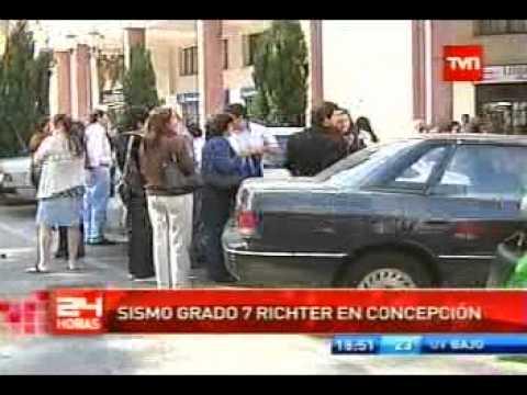 Sismo de 6,8 grados sacude a Concepción - Chile.(11-2-2011)