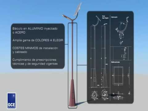 GCE SOLAR presentacion nuevas farolas solares 2009