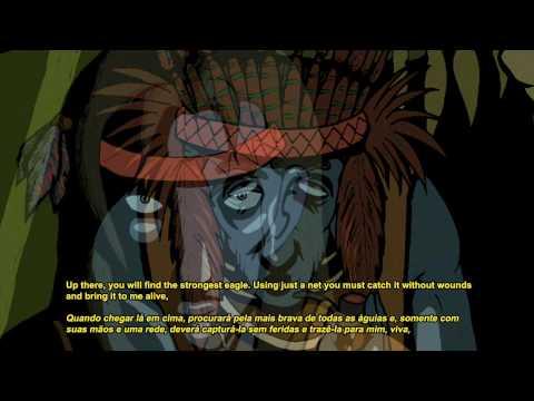 La leyenda del águila y el halcón. (leyenda sioux) Video Ilustrado