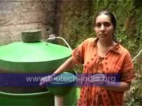 ...BiOTECH iNDiA domestic portable  Biogas plant...
