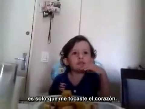 ...Un niño explica por qué no quiere comer animales...