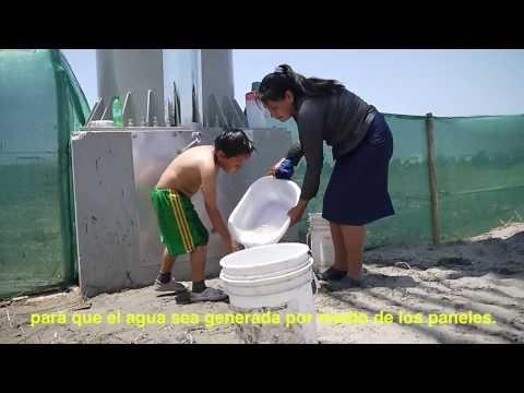 Agua del aire  ingenio de la UTEC Panel Ecologico