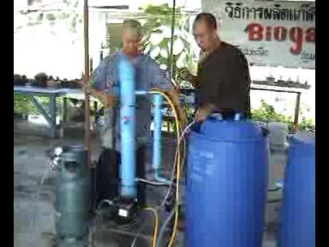 ...วีดีโอสาธิตการผลิตแก๊สชีวภาพ#4... ...BiOGAS.TAiLANDiA...