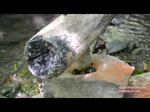 ...Primitive Technology: Water powered hammer (Monjolo)...