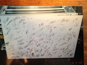 Lite Table (top off) Signed By The Late Ricky Hendricks, The Late Dan Wheldon, The Late Jason Leffler, and 132 others NASCAR, INDY, NHRA, Drivers all with Pictrures