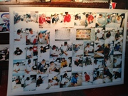 Lite Table, Pictures of NASCAR Driver Signing that has a 135 Signers total of NASCAR, INDY, NHRA, & Monster Trucks