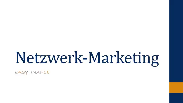 Network-Marketing einfach erklärt - Multi-Level Marketing - Netzwerk Marketing