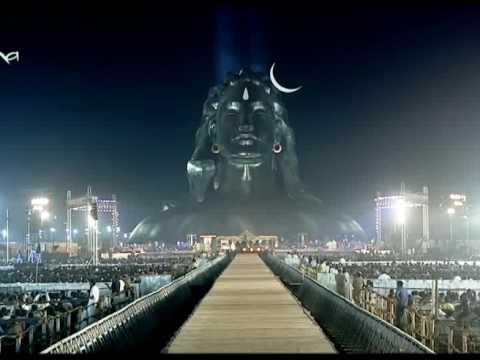 SHIV SONG KAILASH KHER  112 foot tall face lord Shiva AADI YOGI