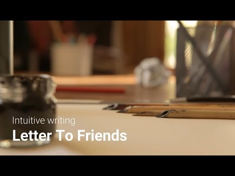 Letter to friends