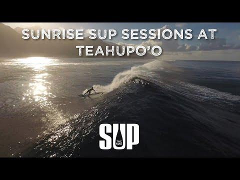 Sunrise SUP Sessions at Teahupo'o