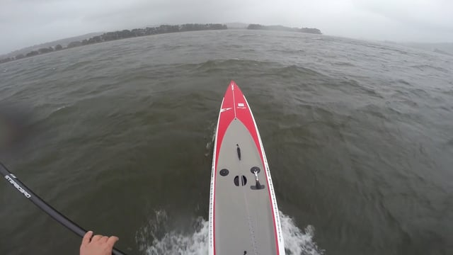 Downwind in Minho River in Portugal with 50 knts gusts