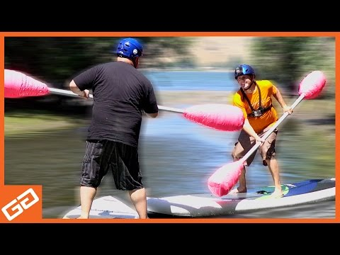 Stand Up Paddle Board Jousting - Geekify Guys