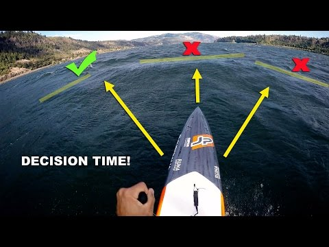 How to Stand Up Paddle Downwind: Catching bumps and decision making