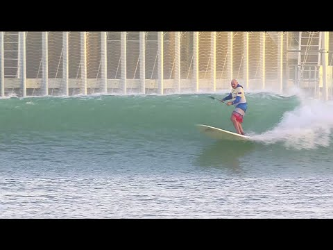Ian Cairns SUP surfing Kelly Slater's wave pool   GrindTV