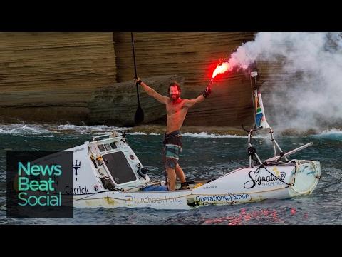 Man Paddle Boards Across Atlantic Ocean Unassisted