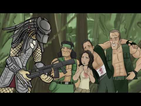 #CARTONPARODY How Predator Should Have Ended #GETTOTHECHOPPER GET DOWWWWWN LOL