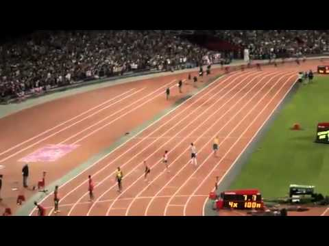 Jamaican Wins Olympic 4x100m Relay Mens Final 2012 Setting New World Record