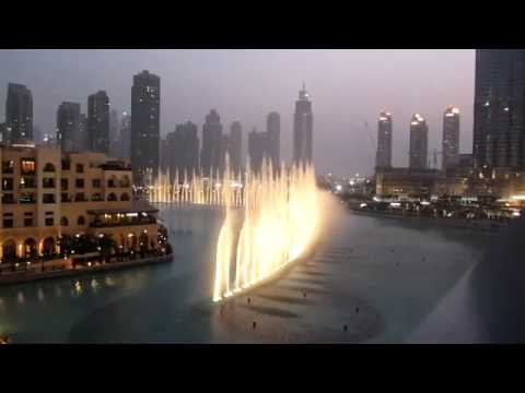 #AMAZING : Dubai Fountains Dance To Whitney Houston's (I Always Love You) R/I/P WHITNEY !