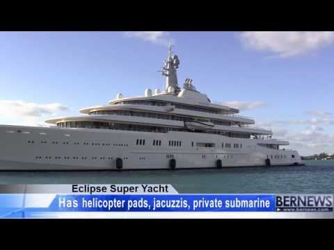 Eclipse Super Yacht Arrives In Bermuda (The Worlds Biggest Yacht)