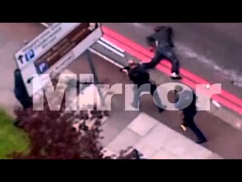 Woolwich Attackers Charging At Police Then Getting Shot! (Video Footage)