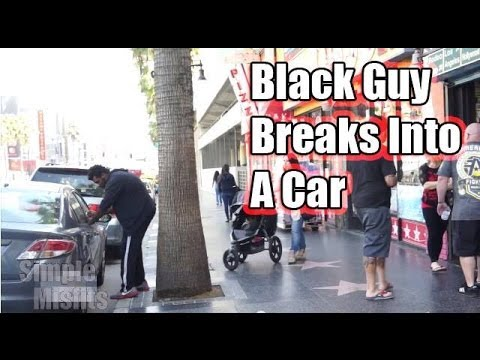 White Guy Breaking  Into Car VS Black Guy Breaking Into A Car