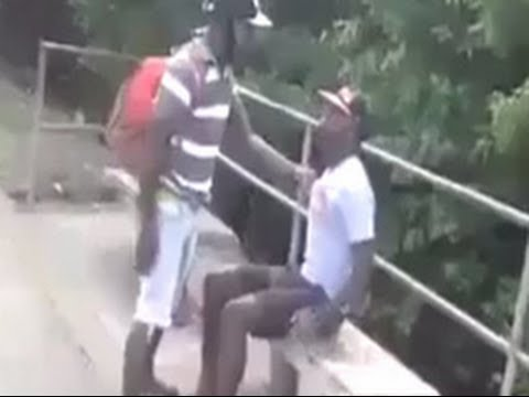 Must Watch :  Jamaican Dude Gets The Fire Smacked Right Out Of Him !!!