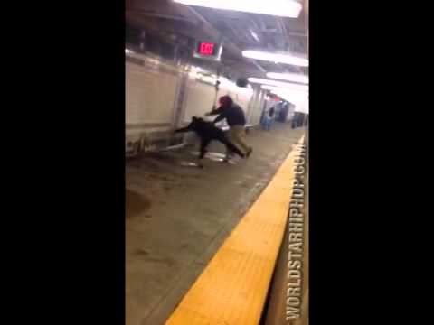 Man Who Threatened To Shoot Subway Passengers, Fights Cop ! (Riders Jump In To Help Officer)
