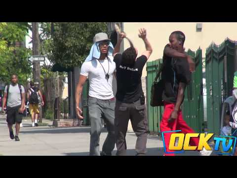 Pulling Up Sagging Pants In The Hood Prank!!