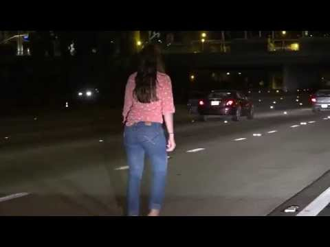 WTF Of The Day : Drunk Woman Pees & Stumbles In The Middle Of The I-15 Freeway !