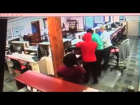 Bank Robbery In Bermuda (Raw Footage)