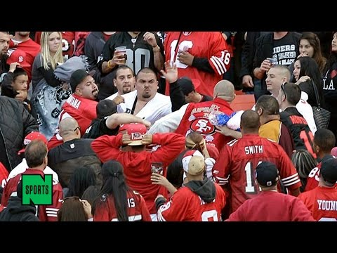 Watch: 49ers Fans Beat the Crap Out of a Vikings Fan After MNF