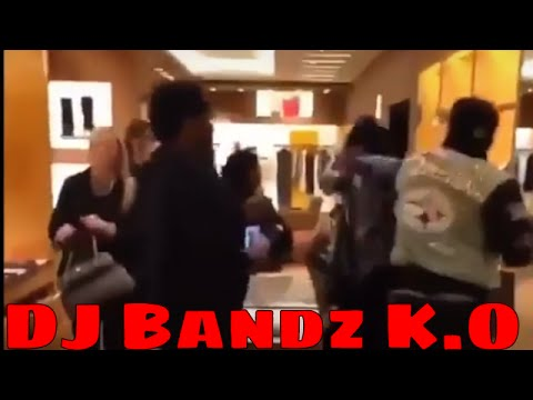 DJ Bandz Gets knocked Out In Louis Vuitton Store