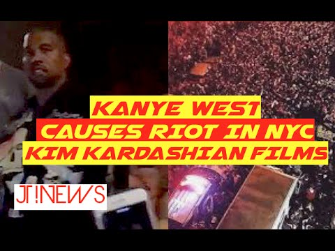 Kanye West Shut Down NYC During Pop Up Performance (It Looked Like The Million Man March Out There)