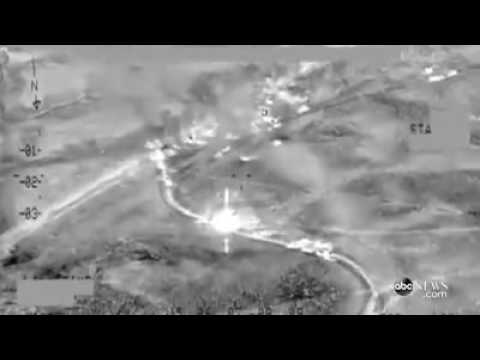 Live Footage of U.S. Airstrikes Against ISIS: 250 Killed
