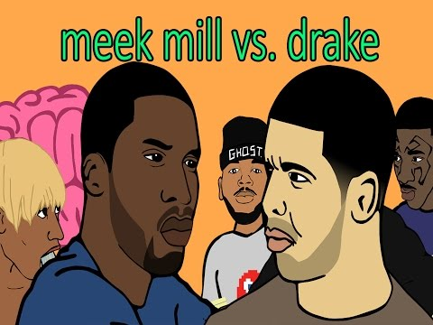 Funny : Drake and Meek Mill's Ghostwriter Beef (Narrated by Gucci Mane)