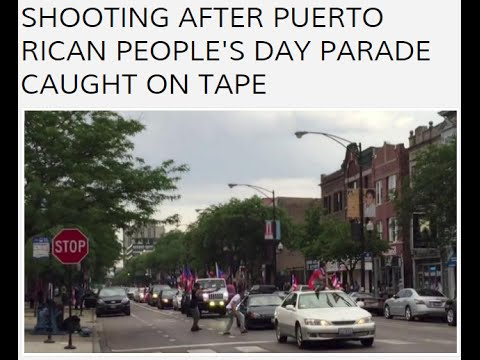 Puerto Rican Savages Shoot it Out at PR Day Parade When 2 Opps Run Into Each Other.