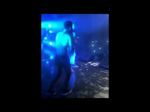 Epic Fail : Young Thug Encourages Fan to Jump Off Stage, No One Catches Him