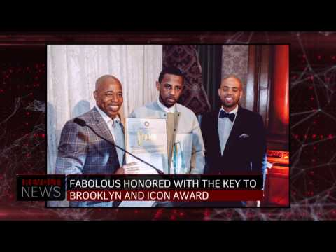 Fabolous honored with the key to Brooklyn and Icon Award