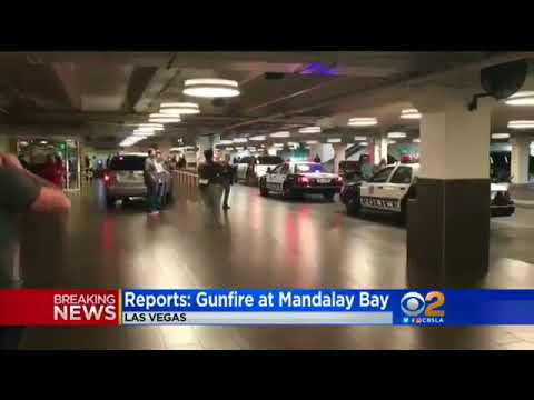 Shooting Massacre  at Country Music Festival In Las Vegas  (Compilation) Raw Footage