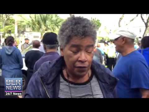 Protest: 64 Yr Old Woman Pepper Sprayed By Police  At House of Assembly, December 2 2016 #Bermuda