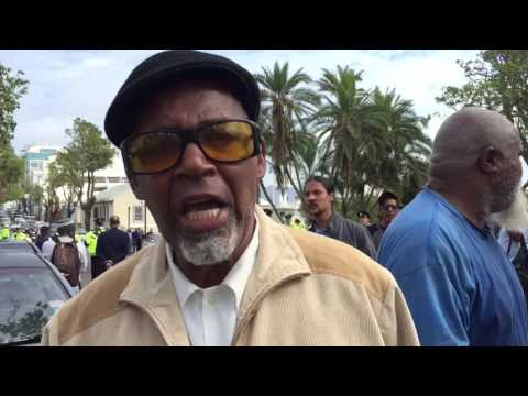 Protest : All Hell Breaks Loose At House of Assembly protest #Bermuda (compilation video)